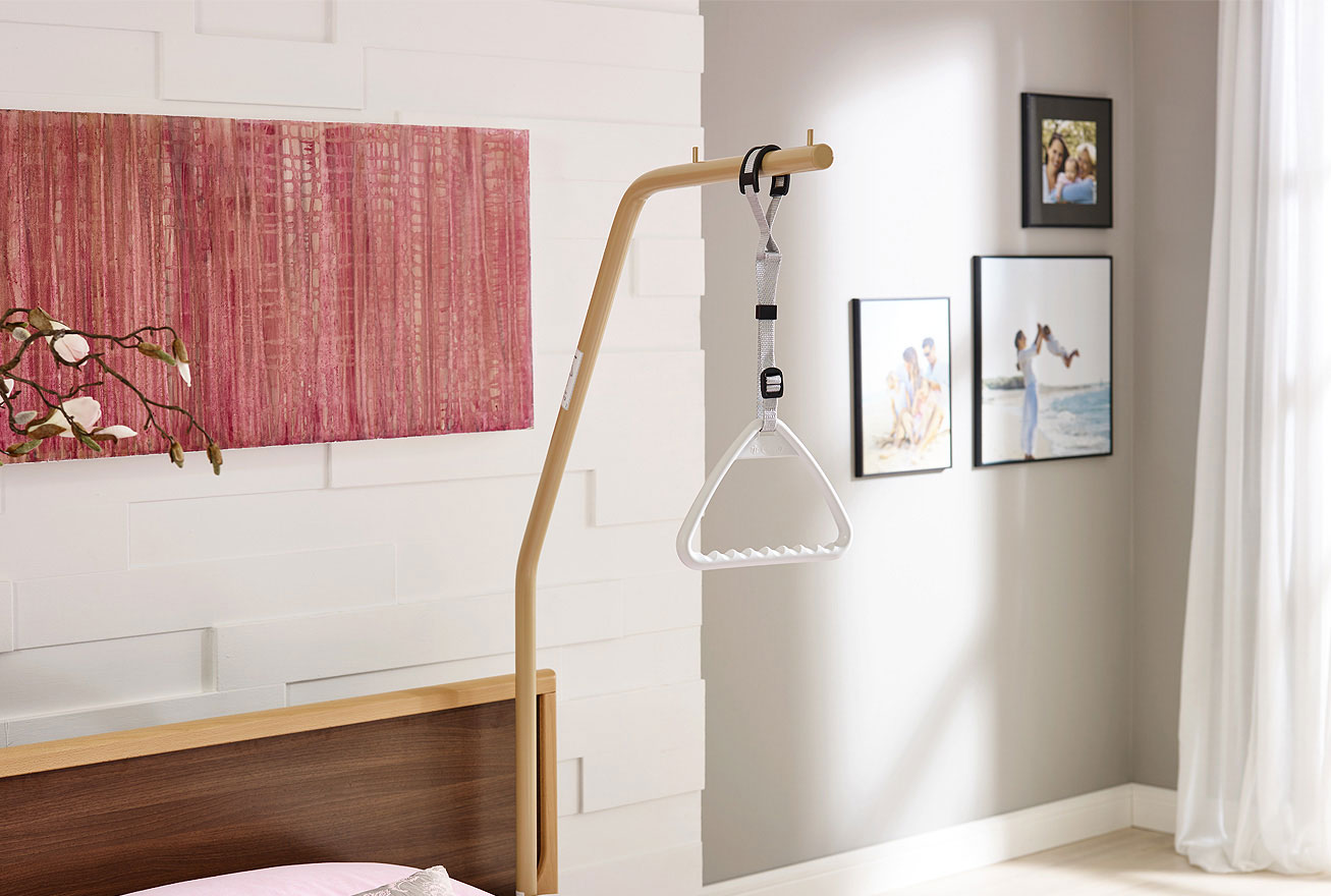 aufrichter mit triangelgriff bettgalgen f r burmeier pflegebetten mc seniorenprodukte. Black Bedroom Furniture Sets. Home Design Ideas