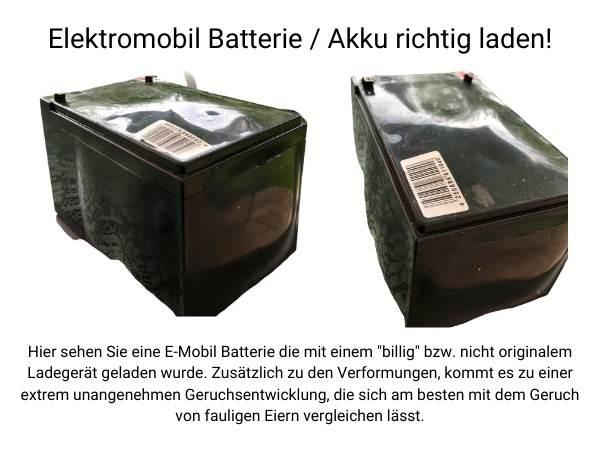 Elektromobil Batterie richtig laden