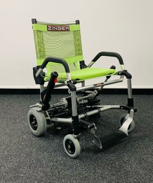 Zinger by MovingStar (6 km/h) grün » Faltbarer Elektrorollstuhl gebraucht