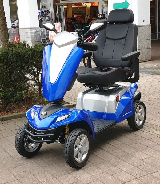 Vorführelektromobil KYMCO Texel (15 km/h) blau + Zubehör