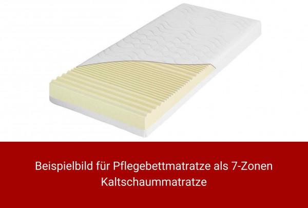 Beispiel: Pflegebettmatratze als 7-Zonen Kaltschaummatratze