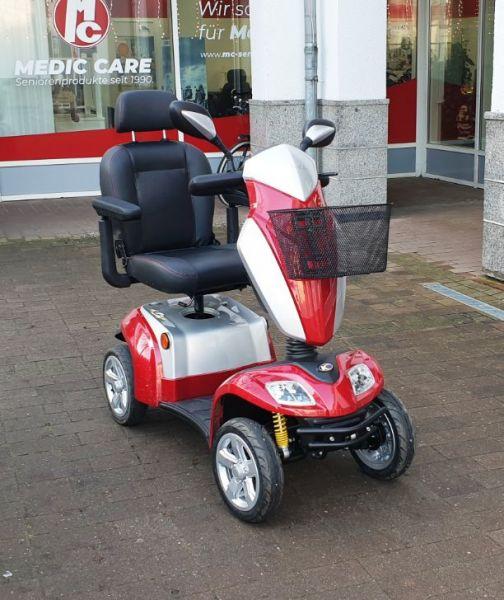 KYMCO Agility (15 km/h) rot - Elektromobil gebraucht Frontansicht