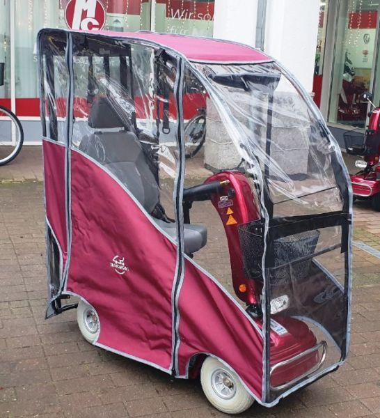 Shoprider TE 888 NR mit Wetterdach rot (6 km/h) » Gebrauchtes Elektromobil