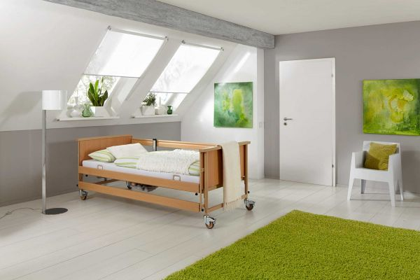 Burmeier Economic II » Einsteiger-Pflegebett inkl. Aufrichter (Bettgalgen)