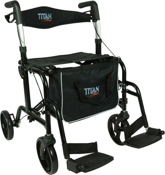 PREMIOMOBIL Titan Allround – Leichtgewichtrollator mit Beinstützen